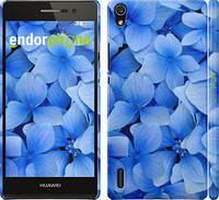 """Чехол на Huawei Ascend P7 Синие цветы """"526c-49"""""""