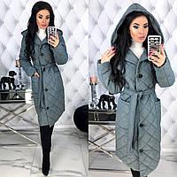 Женская демисезонная куртка - стёганая плащёвка на 150ом синтепоне