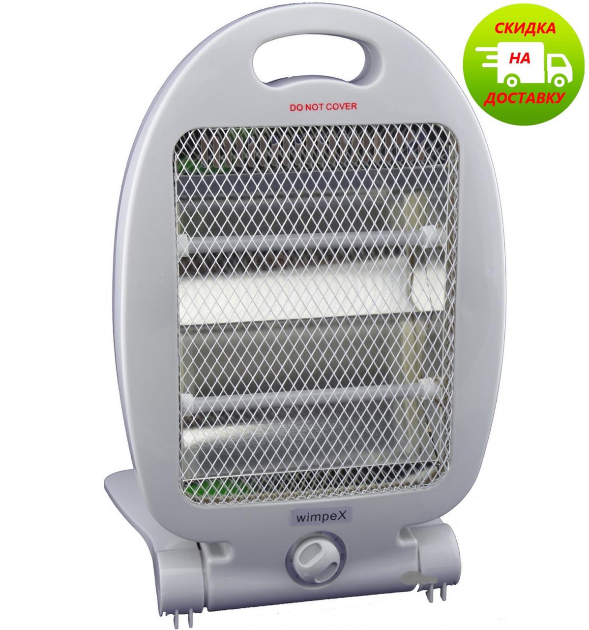 Бытовой электро обогреватель | Камин | Обігрівач | WimpeX WX 454 (400 - 800 Вт)
