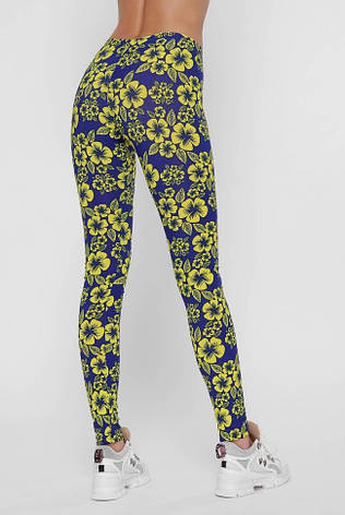 """Лосины """"Pattern"""" с желтым цветочным принтом, фото 2"""