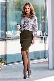 Вязаная трикотажная юбка размер 44-48