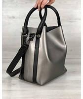 Женская стильная молодежная сумка  металик