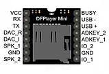 MP3 мини проигрыватель с TF карты  (работает с Ардуино), фото 4