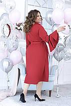 """Приталенное платье-рубашка """"Karola"""" с рукавами-воланами (большие размеры), фото 2"""