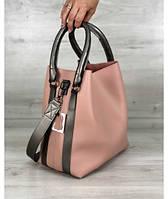 Женская стильная молодежная сумка цвета пудра
