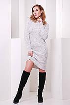 Вязаное платье на каждый день нежного цвета капучино, фото 3