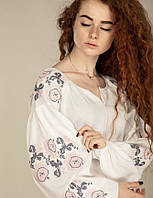 Платье вышиванка с длинным рукавом (разные цвета)