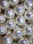 Скляні ялинкові кульки з логотипом, фото 3