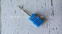 Алмазная фреза пламевидная. Диаметр-1,6 мм. Синяя-Средний абразив