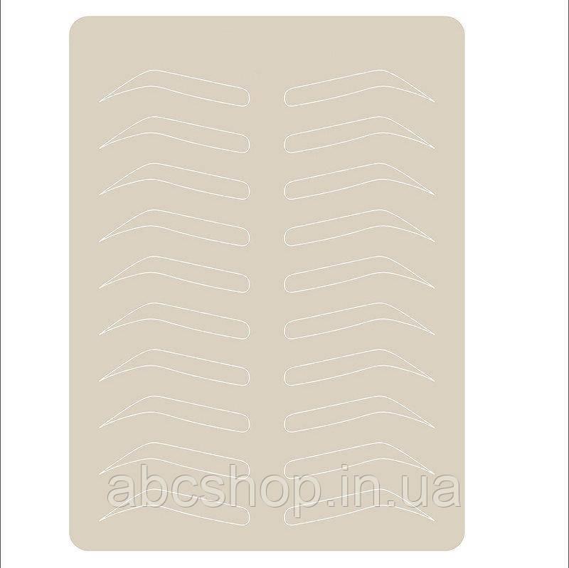 Латексный коврик  эскиз бровей