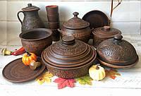 Глиняний набір посуду на Святий Вечір 6 персон, фото 1