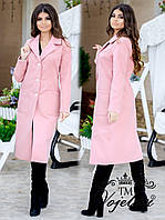 Женское кашемировое пальто на осень - весну на подкладке