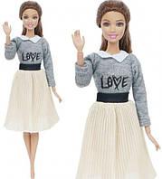Кукольный костюм юбка и кофта для куклы Барби