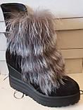 Ботинки молодежные зима на платформе из натуральной замши от производителя модель ЛУ424, фото 2