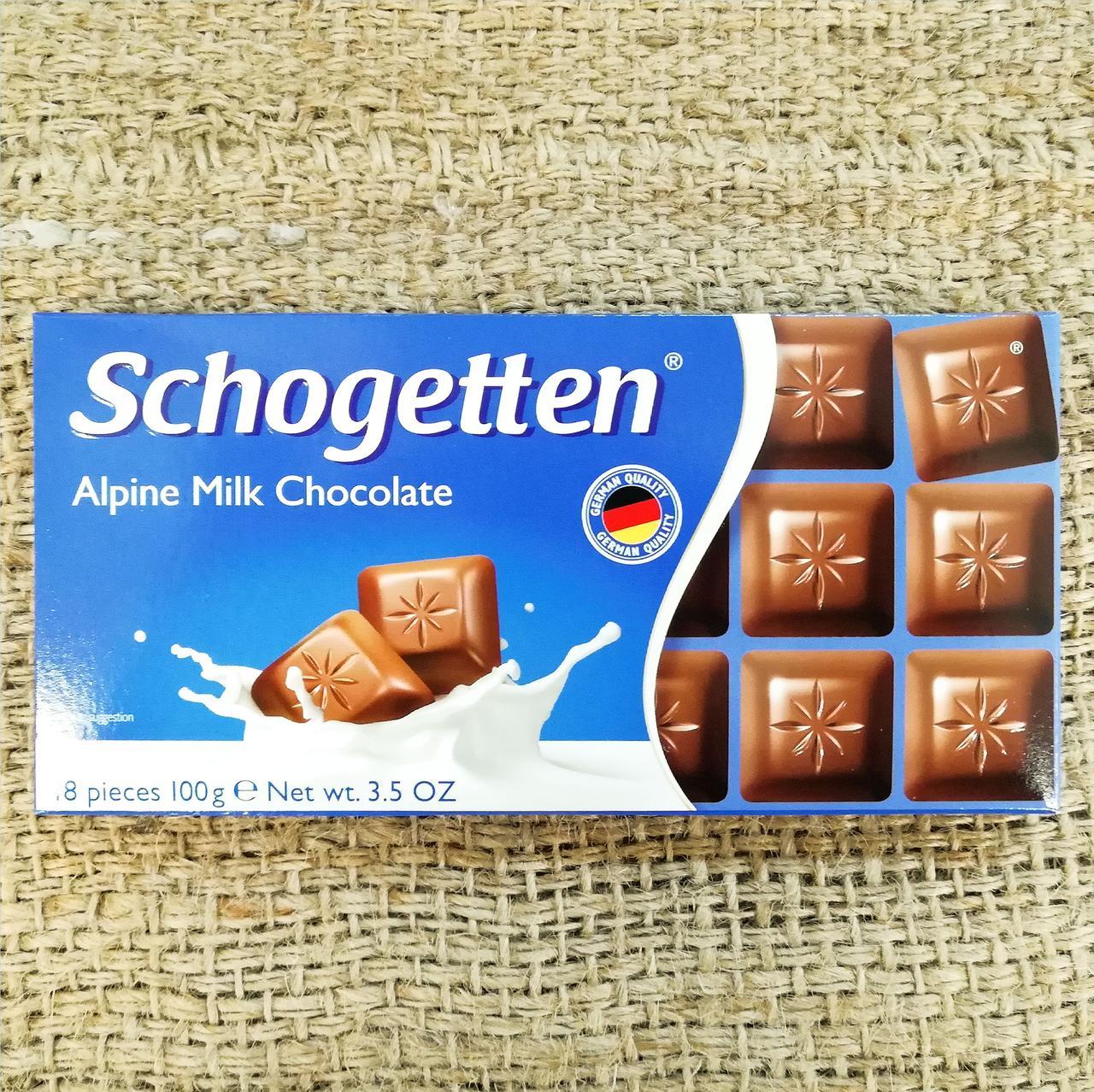 Шоколад Schogetten Alpine Milk Chocolate 100 gramm