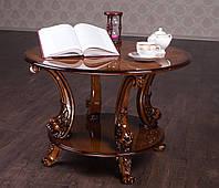 """Эксклюзивный журнальный столик """"№12"""" из натурального дерева, под заказ от 7 дней. Резной стол от фабрики"""