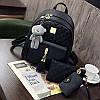 Рюкзак стеганый 3в1 с брелочком опт