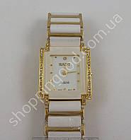 Часы Rado Jubile 8021 белые с золотистым женские прямоугольные