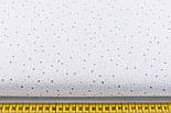 Бязь с мини-звёздами голубого и серого цвета № 683, фото 2
