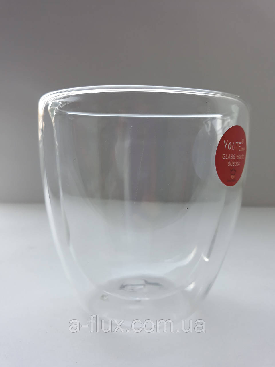 Стакан для кофе и чая с двойной стенкой без ручки стекло 250 мл Гейша 16780-5