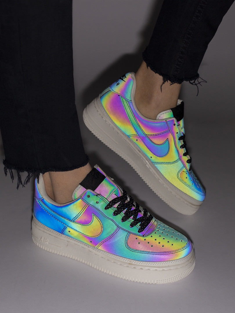 Женские кроссовки в стиле Nike Air Force рефлективные (36, 37, 38, 39, 40 размеры)