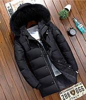 Удлиненный мужской зимний пуховик  JEEP. Размеры 46, фото 1