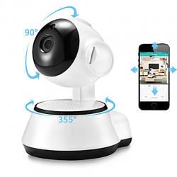 Поворотная Беспроводная IP Камера Wi-Fi 360 видео наблюдения (в ящике 50 шт).
