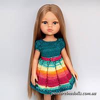 Платье Изумруд с рукавом фонарик для кукол Паола Рейна
