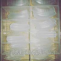 Верхние многоразовые формы типсы для наращивания ногтей полигелем , набор 120 штук, фото 2