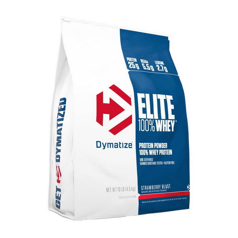 Сывороточный протеин концентрат Dymatize 100% Elite Whey Protein (4.5 кг) диматайз элит вей  juicers variety pack