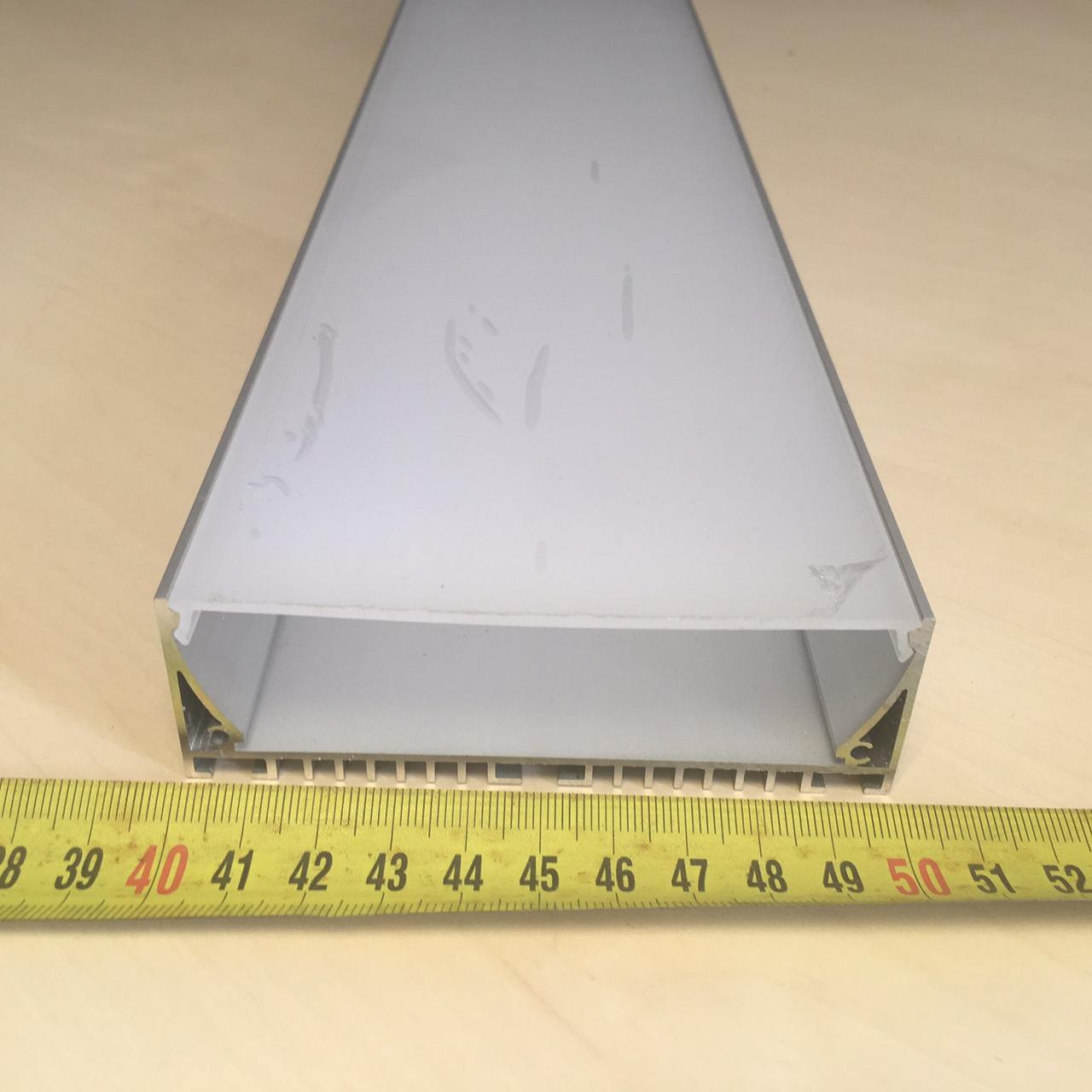 Широкий Лед Профиль ЛПР-100 Алюминиевый Анодированный Радиаторный
