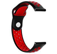 Спортивный ремешок Primo Perfor Sport для Garmin Vivoactive 3 / Vivomove HR / Forerunner 245/645 - Black&Red, фото 1