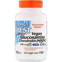 "Веганский глюкозамин и хондроитин с МСМ, Doctor's Best ""Vegan Glucosamine Chondroitin MSM"" (120 капсул)"