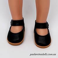 Туфли черные с ремешком для кукол Паола Рейна