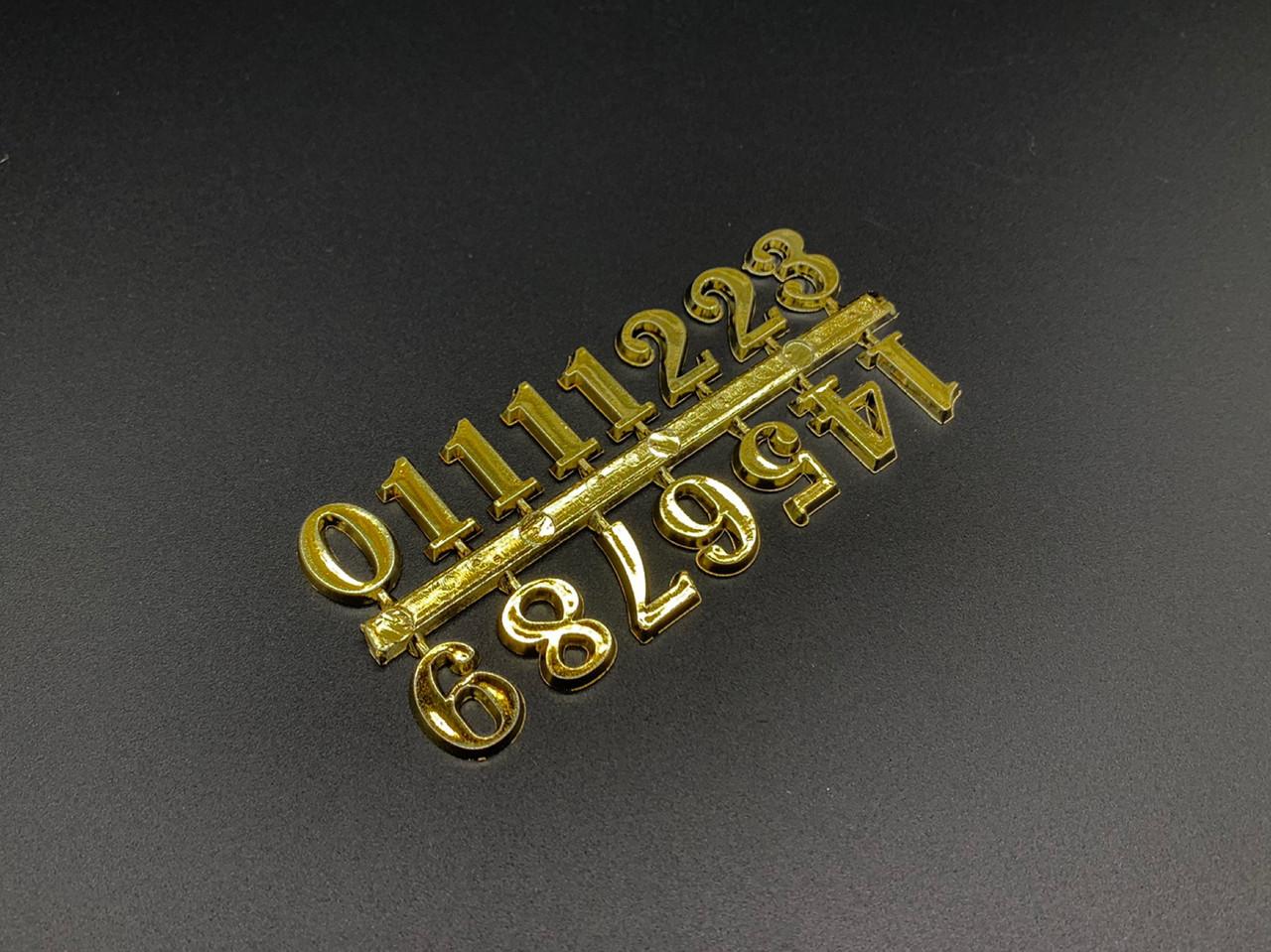 Цифры для часов. Цвет золото. 1,7см
