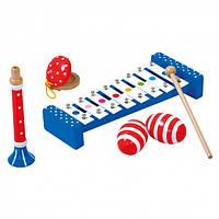 """Детский набор музыкальных инструментов """"Bino"""" (дудочка, шумовые яйца, кастаньеты, металлофон ксилофон)"""