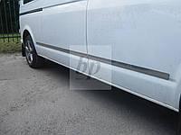 Хромированный молдинг боковых дверей volkswagen t5, t5+(t6) transporter (фольксваген т5, т6 транспортер 2003+)