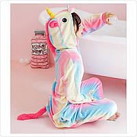 Кигуруми пижама Единорог Радужный пастель микрофибрадетский