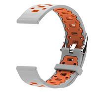Спортивный ремешок Primo Perfor Classic для Garmin Vivoactive 3 / Vivomove HR / Forerunner 245/6 - Grey&Orange, фото 1