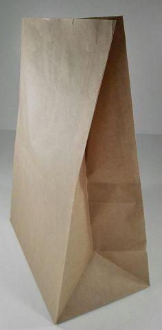 Пакет с дном бумажный 34*25*14 коричневый (25 шт)