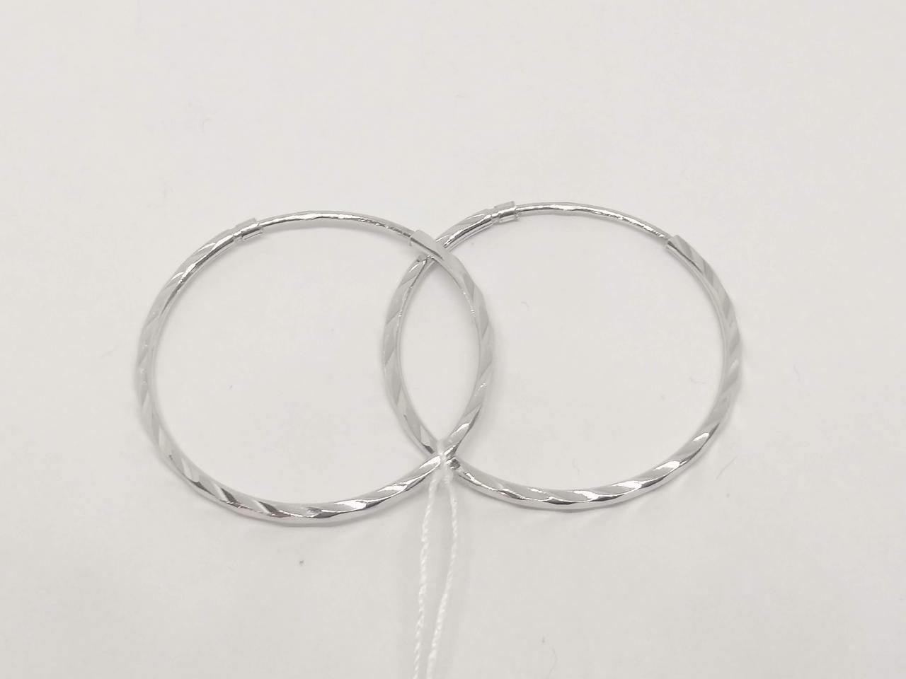 Серебряные серьги с алмазной гранью. Артикул 30АР3