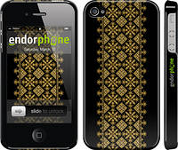 """Чехол на iPhone 4s Вышиванка 35 """"604c-12"""""""
