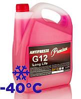 Охлаждающая жидкость (антифриз) G12 5 кг красный Red LongLife TM Premium