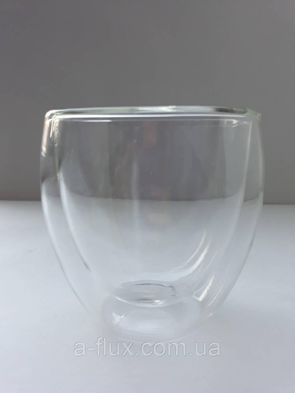Стакан для кофе и чая с двойной стенкой без ручки стекло 250 мл Любимый Чай 16034-11