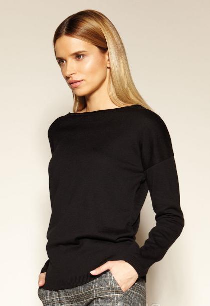 Черный женский свитер Aponi Zaps, коттон