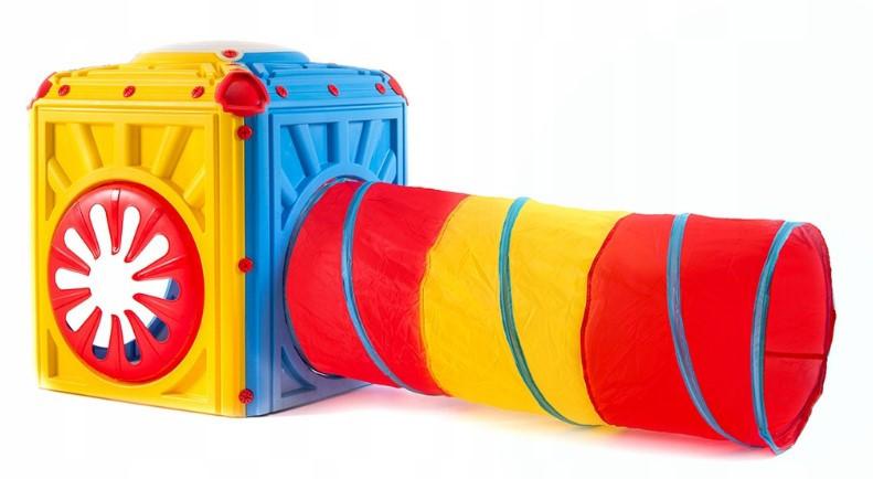 Детская игровая палатка с тоннелем Tobi Toys Activity Cube (игровой домик с туннелем)