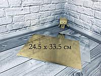 *10 шт* / Подложка под торт 24.5х33.5см Золото-серебро 245х335мм/мин. 10 шт., фото 1