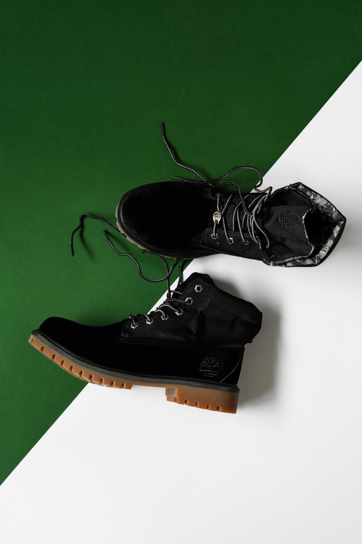 """Зимние ботинки Timberland Military """"Черные"""""""