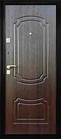 Дверь ПУ-01 мет/мдф орех коньячный 860 (85 мм)