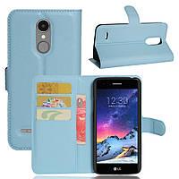 Чехол-книжка Litchie Wallet для LG K8 2017 Голубой
